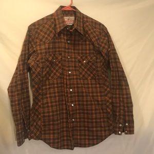 Men's Medium Wrangler western style shirt